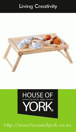 House of York has a lovely tray available from only R189.95 each, ideal for breakfast in bed this Valentine's Day. This versatile tray can also be used as a work surface if you need to work on your couch. #breakfastinbed #breakfasttray #houseofyork #valentinesday
