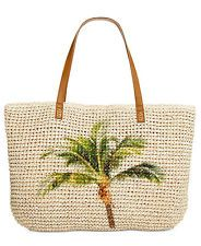 NEW WITH TAGS  Style & Co straw Large Tote Palm Tree Beach Summer Shoulder Bag in Clothing, Shoes & Accessories, Women's Handbags & Bags, Handbags & Purses | eBay
