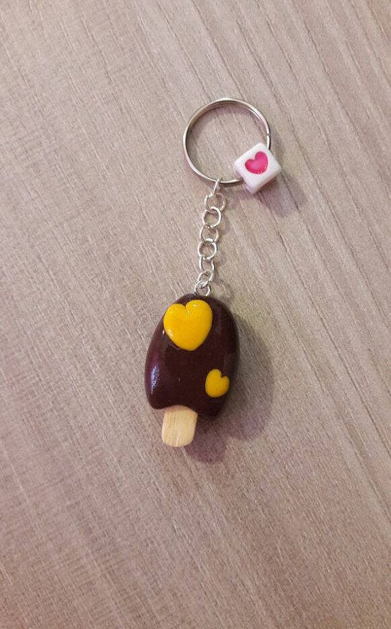 Keychain ice cream chocolate handmade cute charm accessories #keychain #icecream #chocolate #food #charm #accessories #handmade