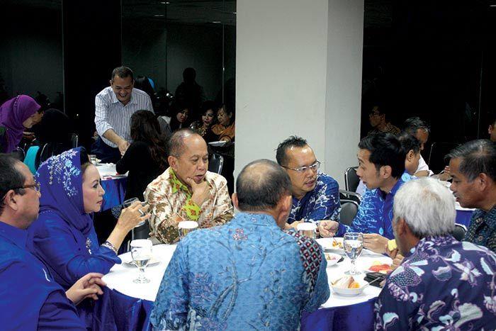 Wakil Sekretaris Jendral Partai Demokrat Ramadhan Pohan dalam pertemuan dengan para pengurus Dewan Pimpinan Pusat Partai Demokrat. Rabu (21/8).