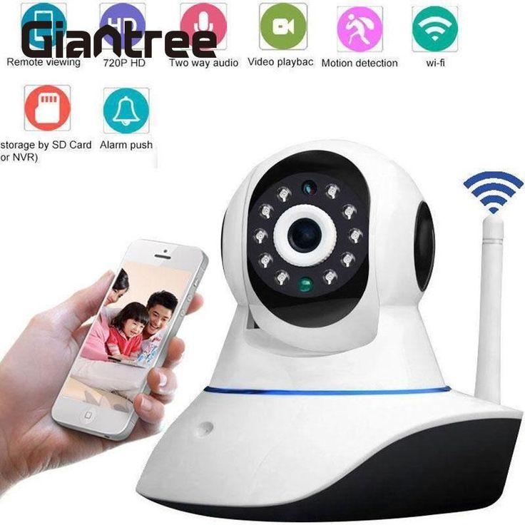 giantree 720P Wireless WiFi IP Security Camera Home Surveillance System CCTV Camera Pan/Tilt Night Vision Cam Baby Monitor