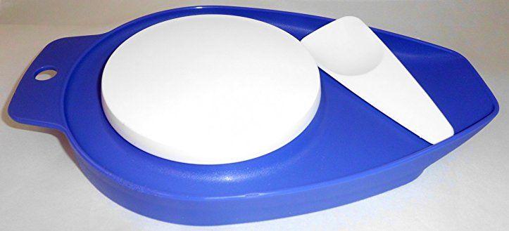 1a TUPPER MAMSELL kleines Schneidbrett --- blau lila - tupperware - dunkelblaue kche