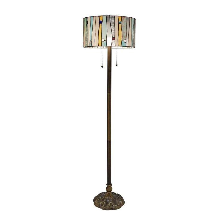 Nila Bronze Double Pull Chain Floor Lamp
