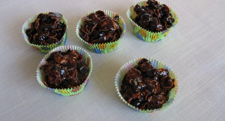 Csokoládégolyók kukoricapehellyel recept