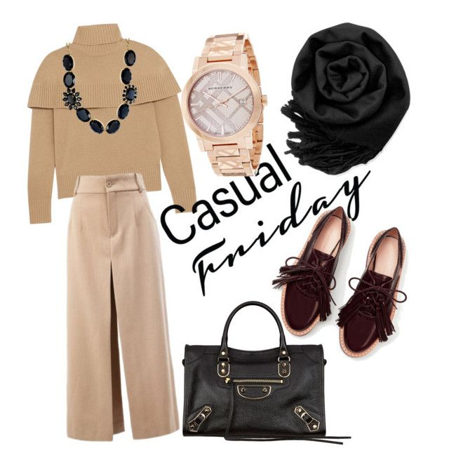 """""""Hijab : My Casual Friday"""" by mean-da on Polyvore featuring Chloé, Gearonic, Balenciaga, Kate Spade and Burberry"""