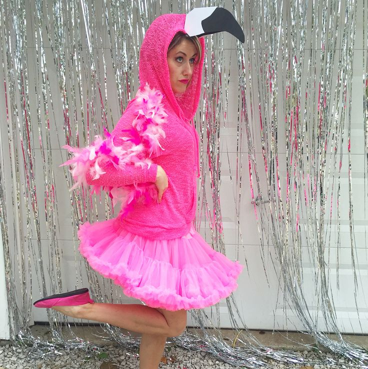 halloween costume idea a flamingo wear a pink top add a big beak and the cat petticoat in hot pink oh and perfect your one legged balancing - Halloween Petticoat
