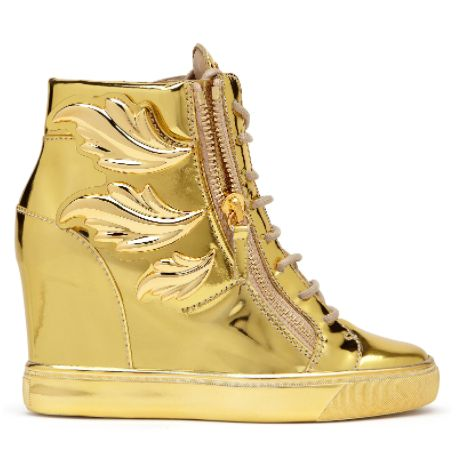 Giuseppe Zanotti, Cruel shoes, sneakers, Giuseppe Zanotti shoes, gold shoes, gold sneakers.