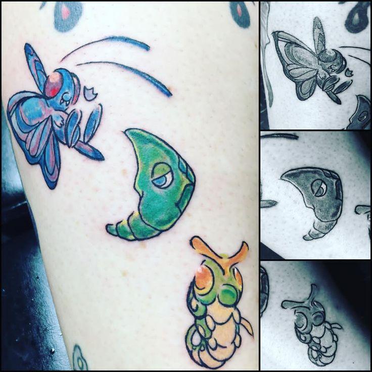 By Jinx #pokemon #pokemongo #butterfree #metapod #caterpie #evolution #gottacatchemall #betheverybes - inks_by_jinx