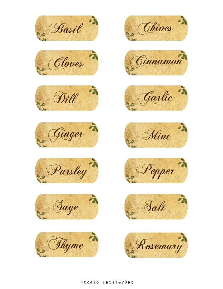 29 best spice jar labels and templates images on pinterest spice jar labels spice jars and. Black Bedroom Furniture Sets. Home Design Ideas
