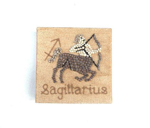 Saggittarius Star Sign, Seashell Mosaic on Sand, Artwork with Seashells and Sand, Mosaic Art, 3D Art Collage, Wall Art Decor, Gift Idea #ArtworkwithSeashells #mosaiccollage #seashellmosaic #homedecor #walldecor #3D