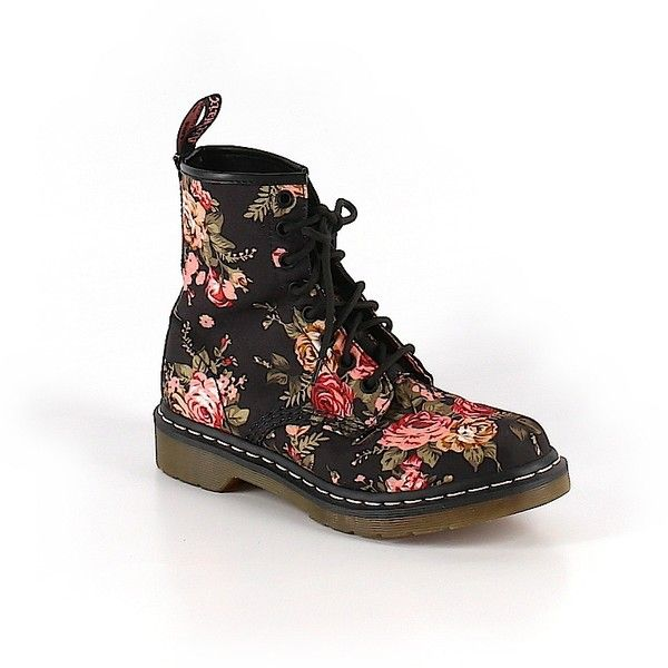 Pre-owned Dr. Martens Boots Size 7: Black Women's Shoes (€28) ❤ liked on Polyvore featuring shoes, boots, black, black shoes, dr martens boots, dr. martens, kohl shoes and kohl boots