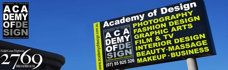 Welcome to the Academy of Design - The Leading Education Provider on the Gold Coast. We offer vet fee-help on many of our courses. We specialise in PHOTOGRAPHY, FASHION DESIGN & STYLING, FILM & TV, GRAPHIC ARTS - MULTIMEDIA, INTERIOR DESIGN, MAKEUP, BEAUTY THERAPY & MASSAGE THERAPY.