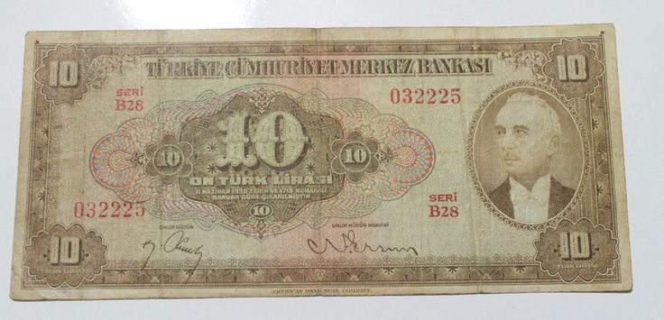 TURKEY 4. EMISSION 1. ISSUE 10 LIRA INONU