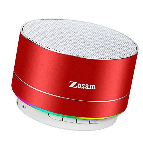 Zosam Portable Wireless Bluetooth Speaker Superb HD Sound &Enhanced Bass MINI Stereo Outdoor Speaker with Built-in Mic and SD/TF Card Slot for iPhone iPad PC Cellphone (Red) - Product Description Item size: 2.4*2.4*2inches Output Power: 3W Frequency response: 280HZ-16KHZ Battery Capacity: 520mAh Playing time: about 5 hours Chatting time: about 5 hours Working Range: 32 ft Weight: 230g Why You Choose Our Bluetooth Speakers? --Warranty: 12-month worry-free technical supp...