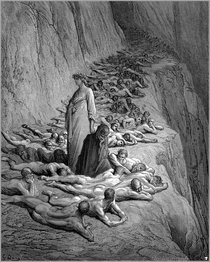 Gustave Doré - Dante And Pope Adrian V
