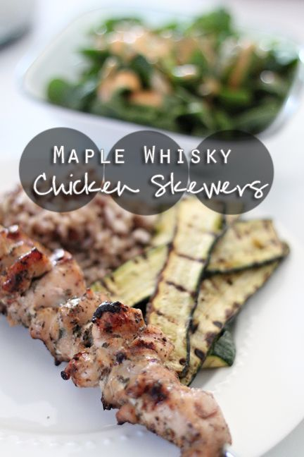 Maple Whiskey Chicken Skewers, recipe from Susan Watson, Winnipeg Dietitian
