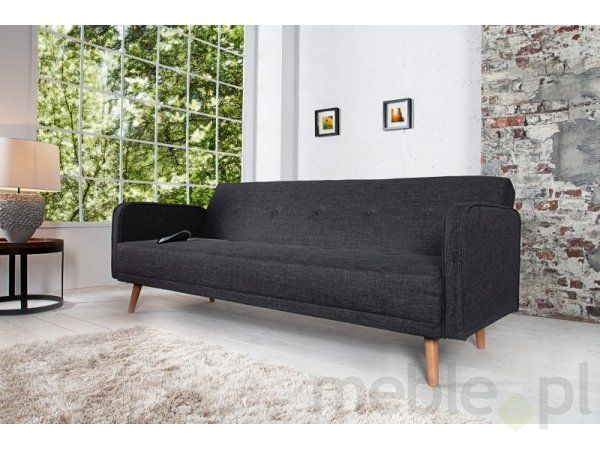 Sofa Scandinavia 200cm ciemnoszara Invicta Interior i35843, Invicta Interior - Meble