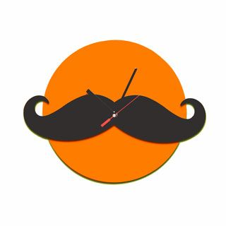 #Alberto, our moustached-wall-clock   #lamidea  #mustache