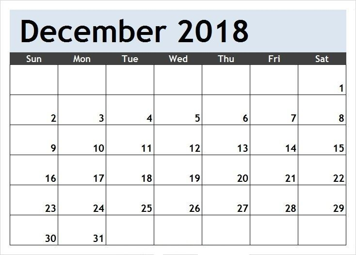 December 2019 Pdf Printable Calendar Download Calendar
