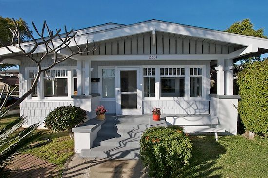 California Bungalow Long Beach Ca Craftsman Style