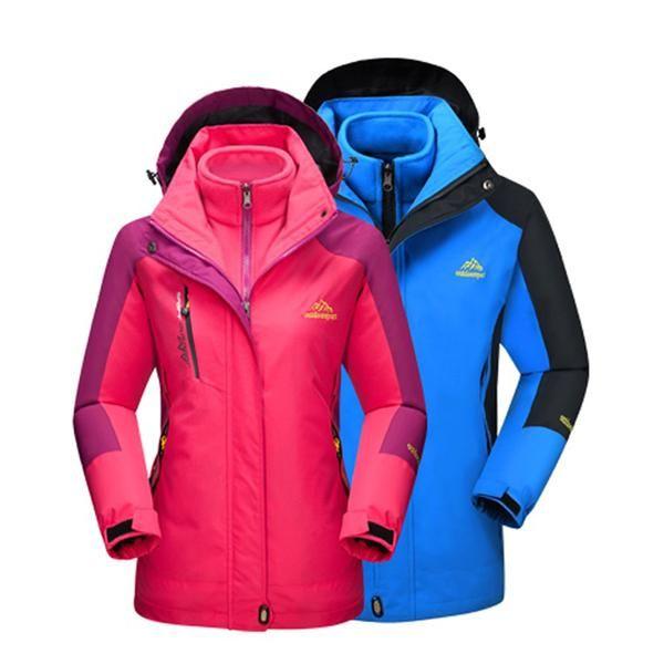 6f74b63cf Men Women Winter Inner Fleece Warm 2 Pieces Outdoor Sports Brand ...