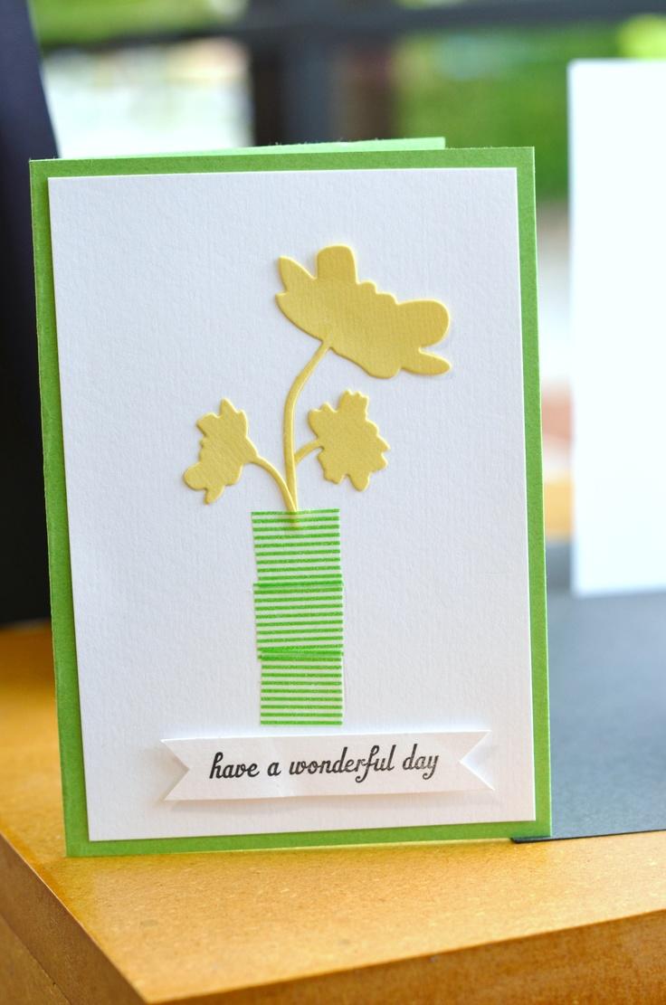 Card Making Ideas Using Washi Tape Part - 39: Cute Washi Tape Idea · Washi Tape CardsTape ...