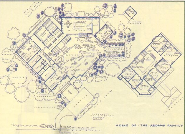 The blueprint for the Addams Family House... maybe not the ideal dream home but wouldn't it be cool?