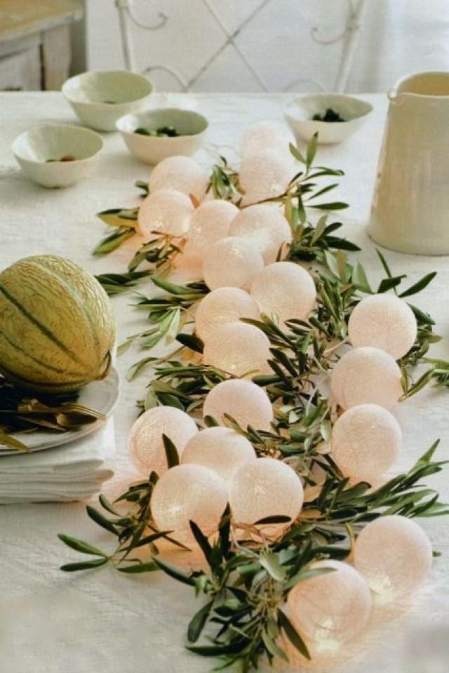 Centros de mesa para boda economicos con ramas de olivo y luces con paso a paso!