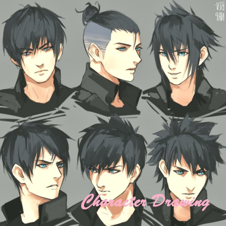 Noct Hairstyles By Bev Nap On Deviantart Anime Hairstyles Male Manga Hair Anime Hair