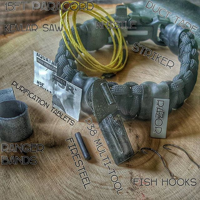 The Scout Slimline Survival Strap is our lightest paracord bracelet but still packs a punch for those that want to be prepared.  Check out all that's equipped at superessestraps.com  #camping #survival #outdoors #scoutslimline #superessestraps
