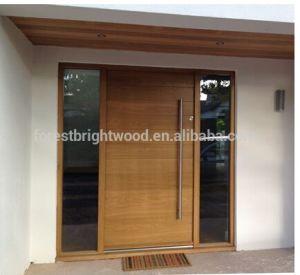 teakhout voordeur modern