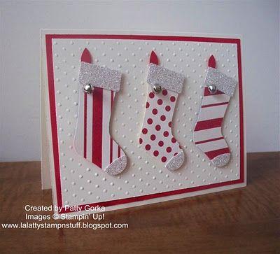 stocking punch #stampinup