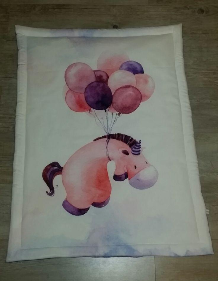 Couverture bébé- modèle l'âne aux ballons - plaid bébé - couverture fait main : Puériculture par small-sleeper