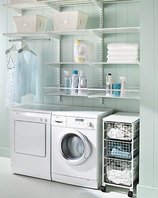 Small Laundry Room Design | laundry-room-elle-decor