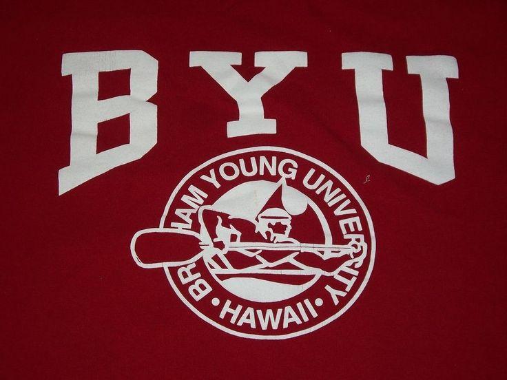 BYU Hawaii Mens Red T Shirt XL Tee Bingham Young University Logo