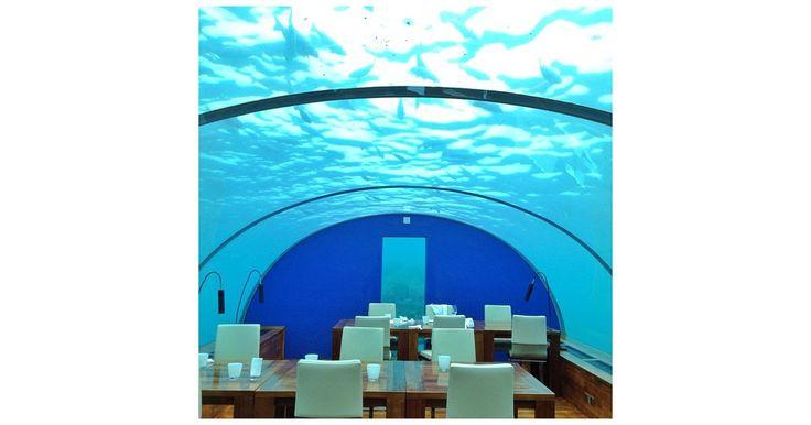 Eat in the Underwater Restaurant in the Maldives