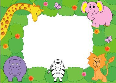 Picture frame name tag ...-zoo animals
