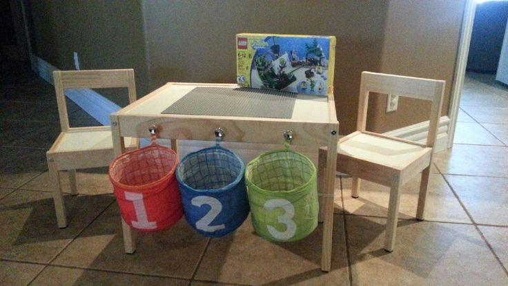 Diy cheap lego table from ikea klaslokaal pinterest for Ikea daycare furniture