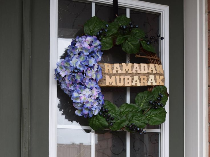 Ramadan Wreath, Ramadan Decor, Hydrangea Wreath, Spring Wreath, Home Decor