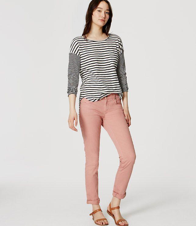 Ann Taylor LOFT Pink Skinny Crop Jeans Size 28