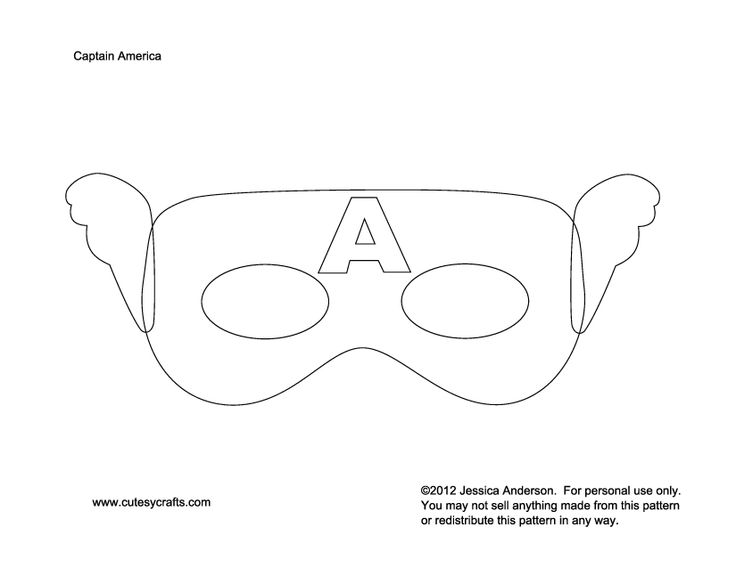 Captain america mask to kids patterns moldes pinterest for Avengers mask template