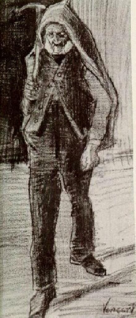 Orphan Man with Pickax on his Shoulder - Vincent van Gogh