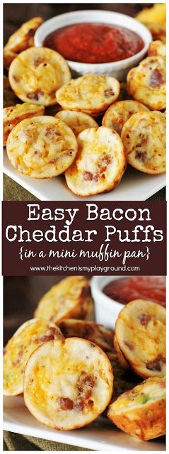 Bacon Cheddar Puffs ~ For game day! #superbowl