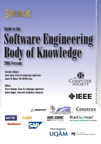 Guide to the Software Engineering Body of Knowledge (SWEBOK(R)): 2004 Version by IEEE Computer Society,http://www.amazon.com/dp/0769523307/ref=cm_sw_r_pi_dp_uNeetb0HYMEKCT25