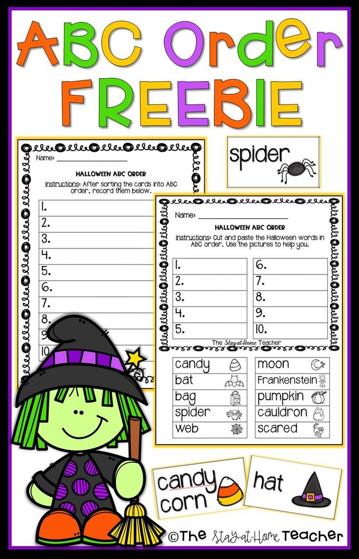 Halloween Abc Order Center And Worksheets Abc Order Halloween Classroom Activities Halloween Words [ 1144 x 735 Pixel ]