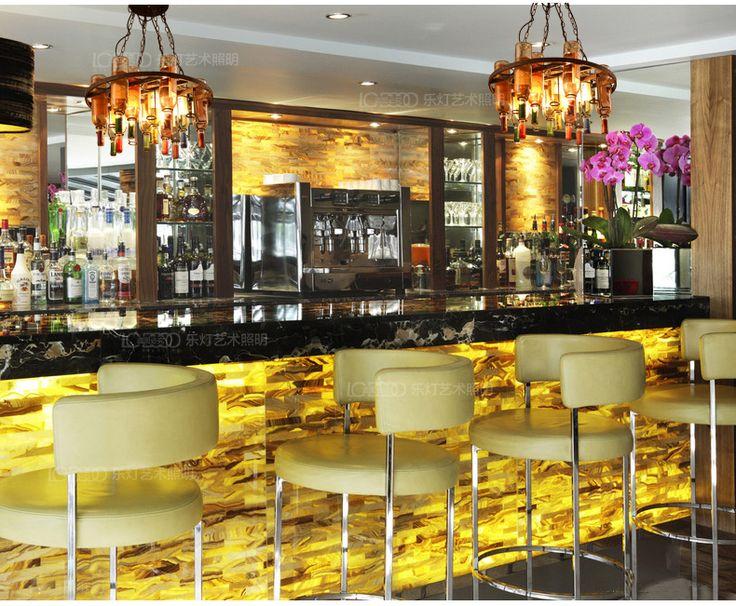 Le Cafe лампа творческой личности ретро промышленный дизайнер Бар Бар Ресторан цветной стеклянная бутылка люстра -tmall.com Lynx