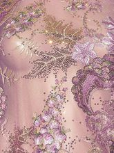 Stunning Dull Pink Colorful Floral Motif Embroidered Sequin Mesh Fabric for Dressmaking By the Meter  BB 384(China (Mainland))