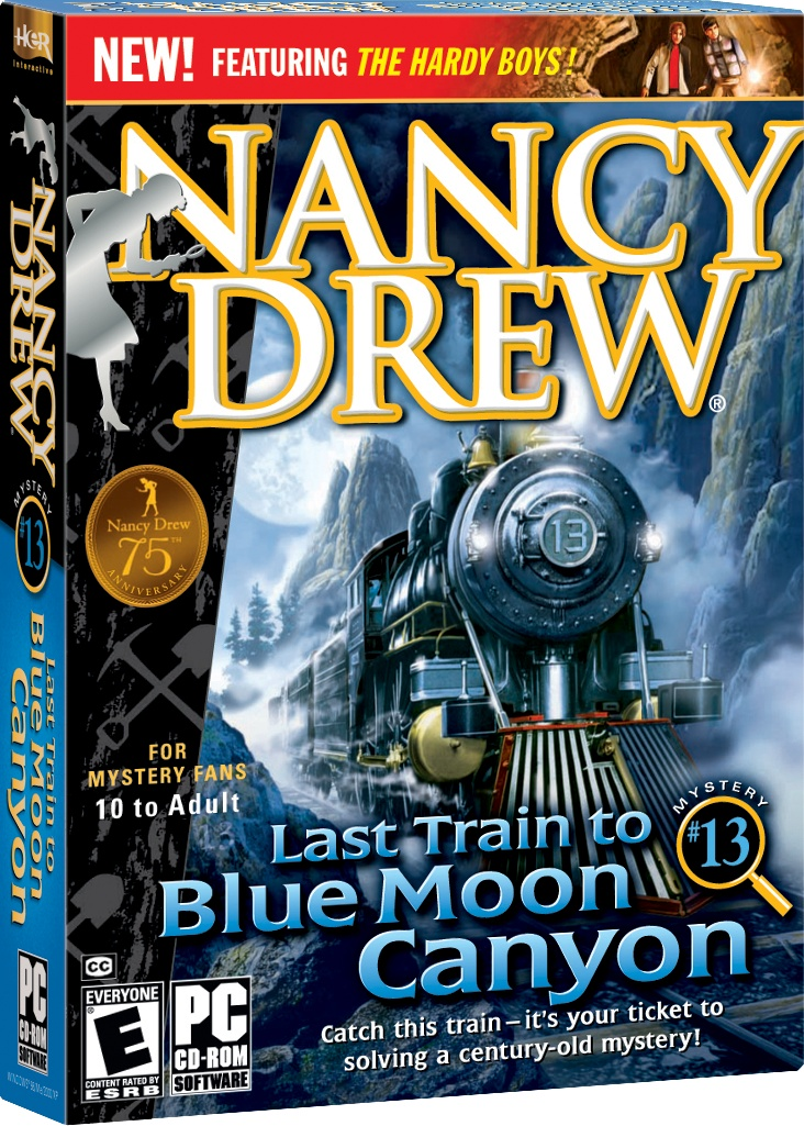 Nancy Drew: Last Train to Blue Moon Canyon computer game.Catch this train — it's your ticket to solving a century-old mystery! http://www.herinteractive.com/Mystery_Games/Nancy_Drew/Last_Train_to_Blue_Moon_Canyon/pc