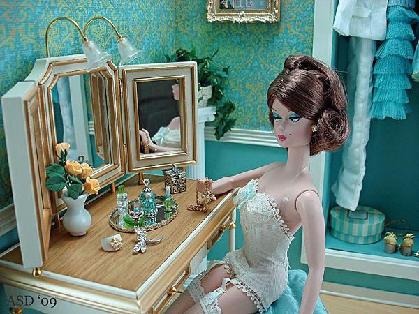 a place to primp: Rooms Barbie, Amazing Dolls, Aqua Barbie Beautiful, Lingerie Barbie, Barbie Photo, Dolls Vanities, Dolls Barbie, Things2 Barbie, Ultimate Babes