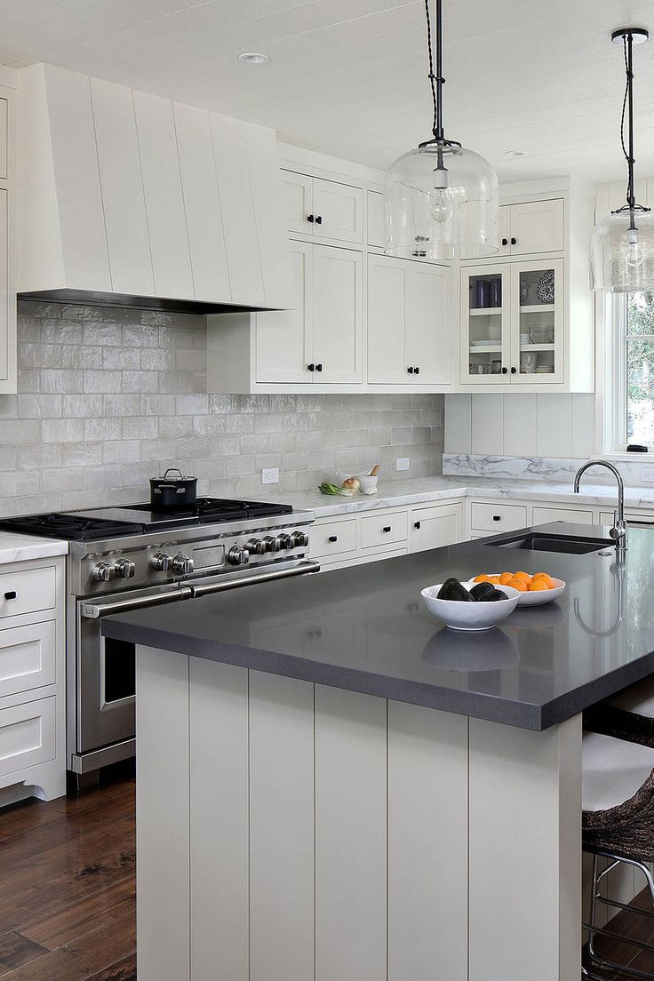 50+ Black Countertop Backsplash Ideas (Tile Designs, Tips ... on Backsplash Ideas For Black Countertops  id=68429